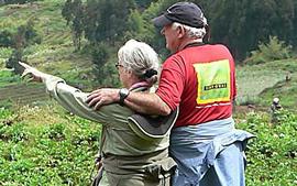 Dian Fossey with Mountain Gorillas in Rwanda