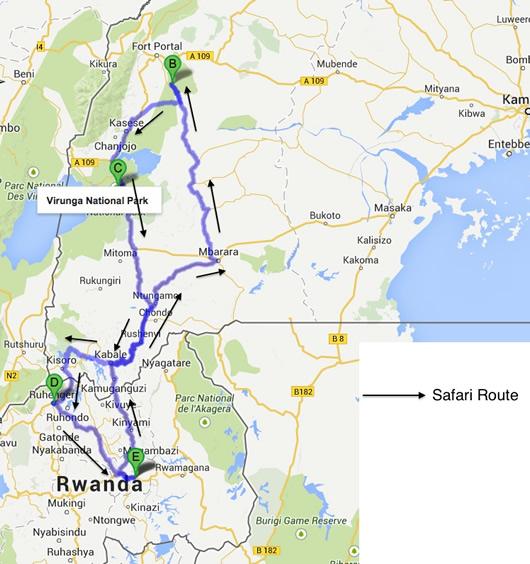 5 days Rwanda Uganda safari