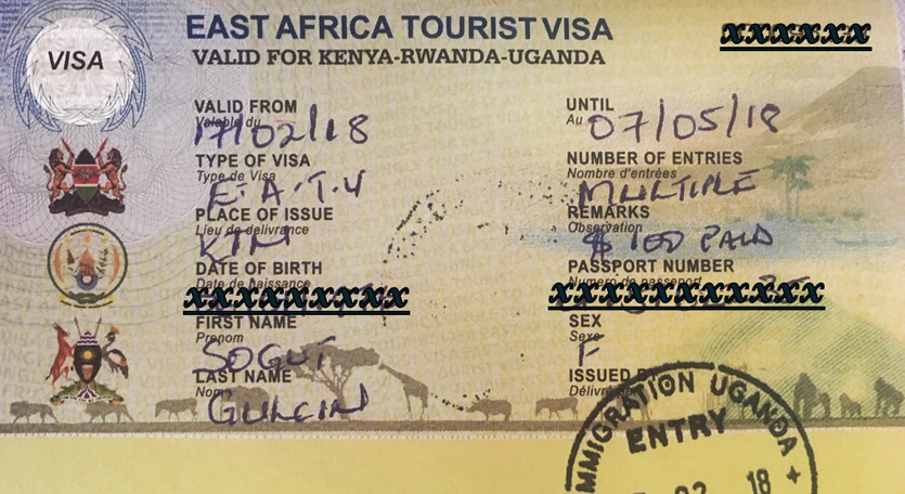 Application for a single East African Visa
