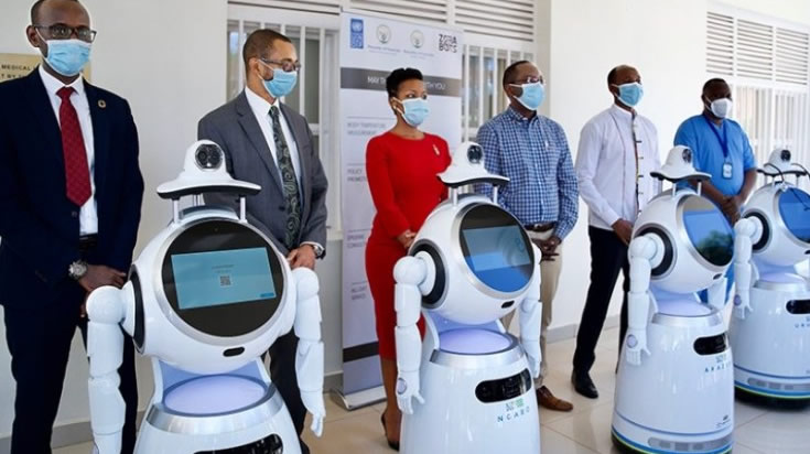 Rwanda deploys robots to fight covid19